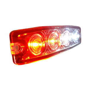 4 LED delgados de doble color durables luces intermitentes de luces estroboscópicas policiales